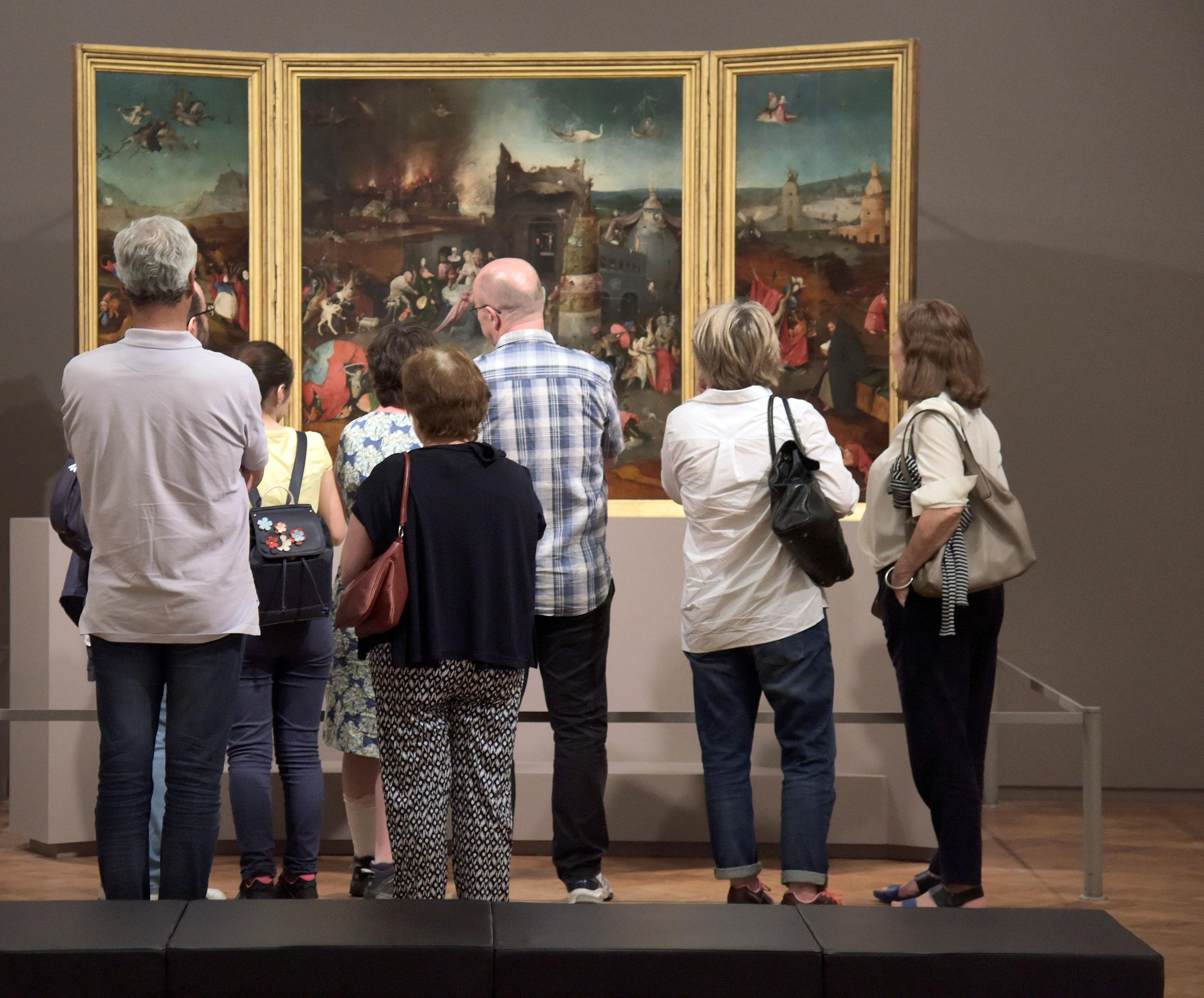 Bosch - visitantes no MNAA