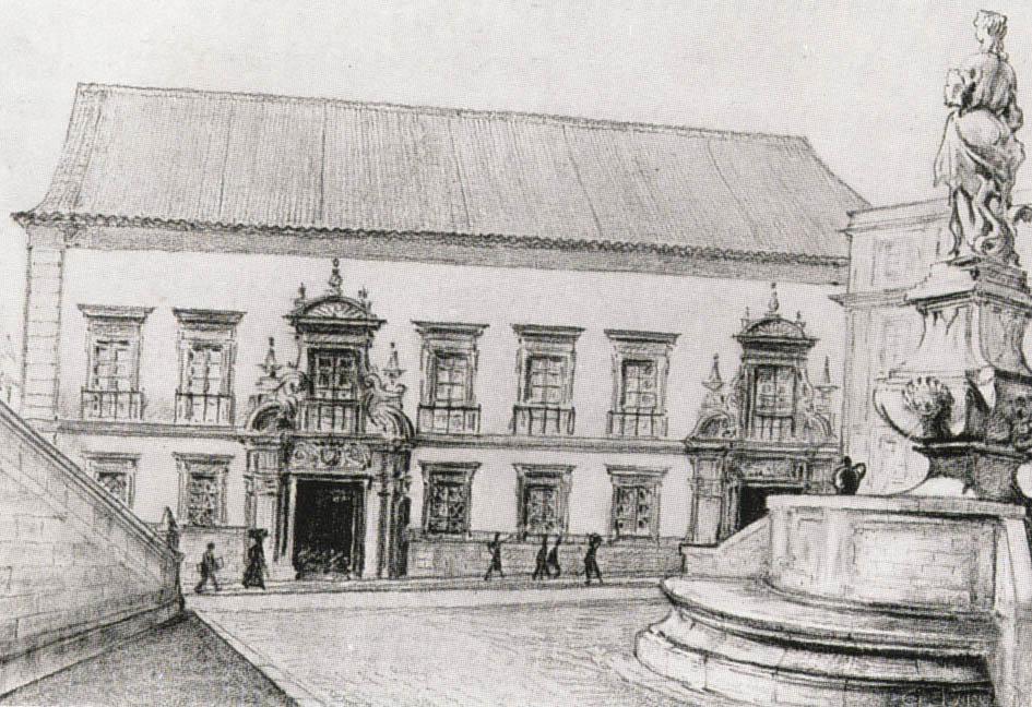 Gravura da Fachada do Palácio Alvor
