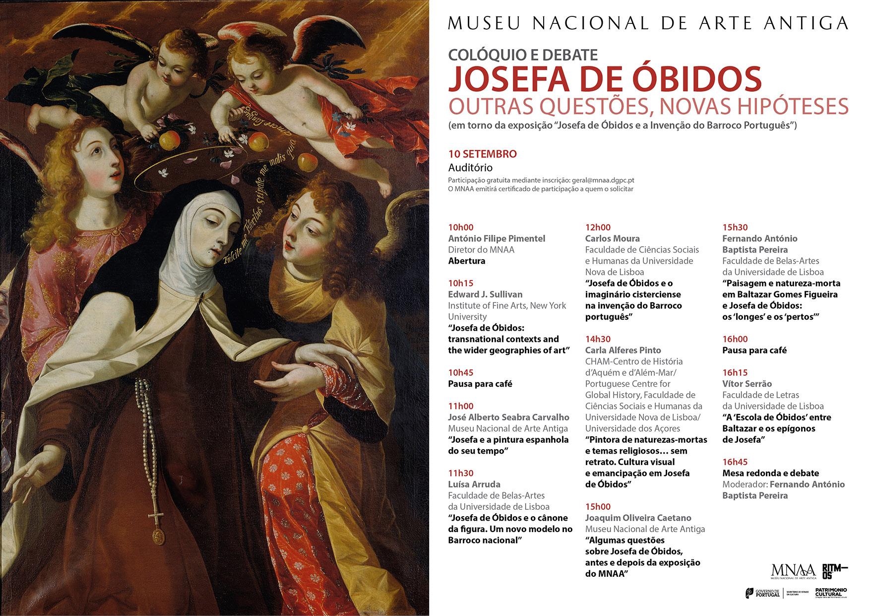 JOSEFA DE ÓBIDOS Colóquio Debate 10 setembro 2015